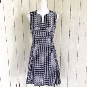 Brooks Brothers A-Line Dress Sleeveless V-Neck